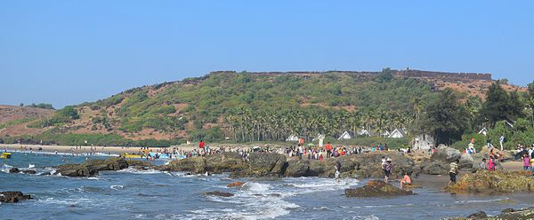 Chapora Fort is the best places to visit in Goa