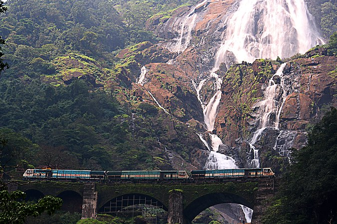 Dudhsagar Falls is the best places to visit in Goa