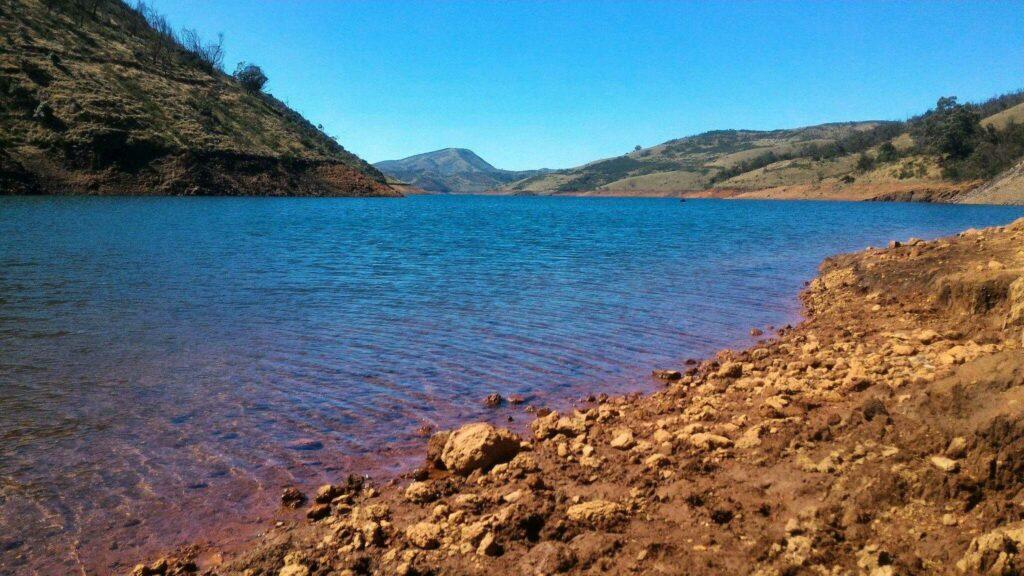 Torrential slide Lake